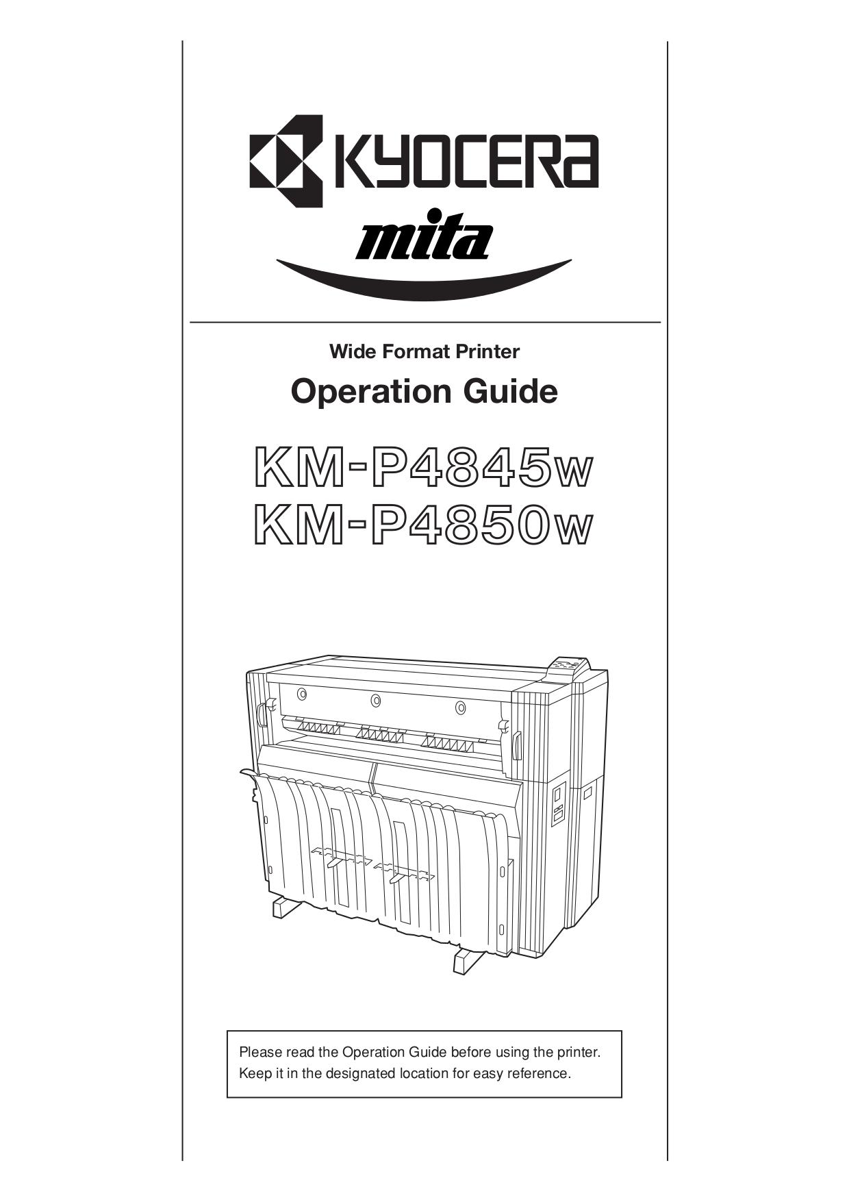 pdf for Kyocera Printer KM-P4850w manual
