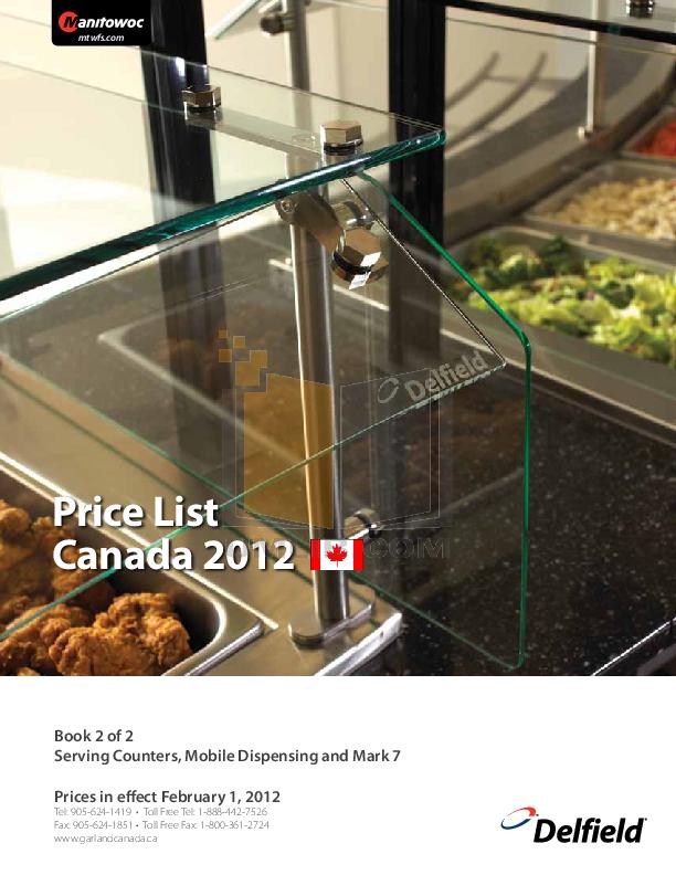 pdf for Delfield Refrigerator SE-F5 manual