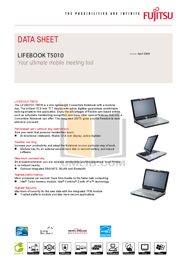 Wl0020 t5010 & t900 lifebooks with ar5bhb92 user manual appendix.