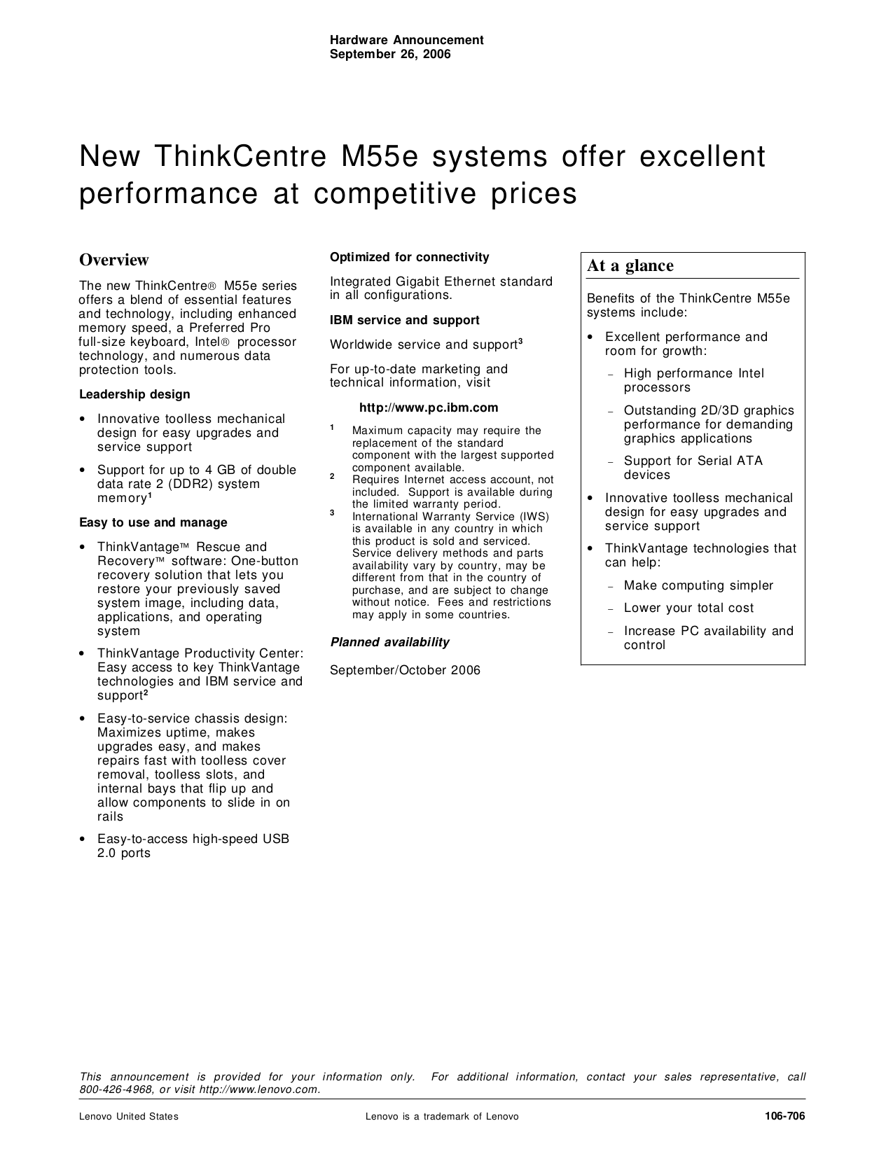 pdf for Lenovo Desktop ThinkCentre M55e 9632 manual