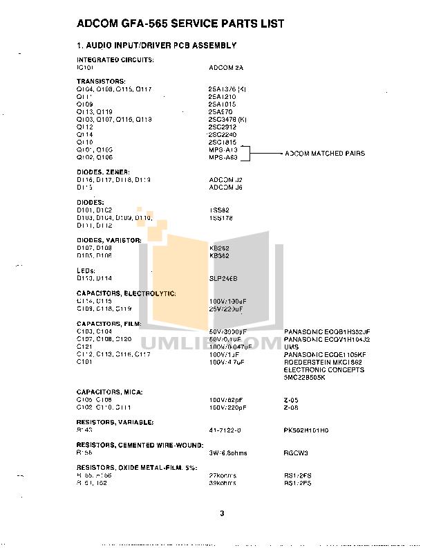 pdf manual for adcom amp gfa 565 rh umlib com adcom gfp 565 service manual