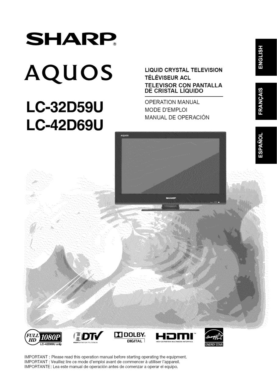 sharp aquos quattron manual pdf