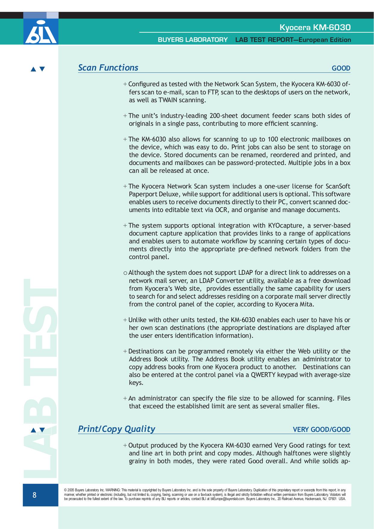 PDF manual for Kyocera Multifunction Printer KM-6030