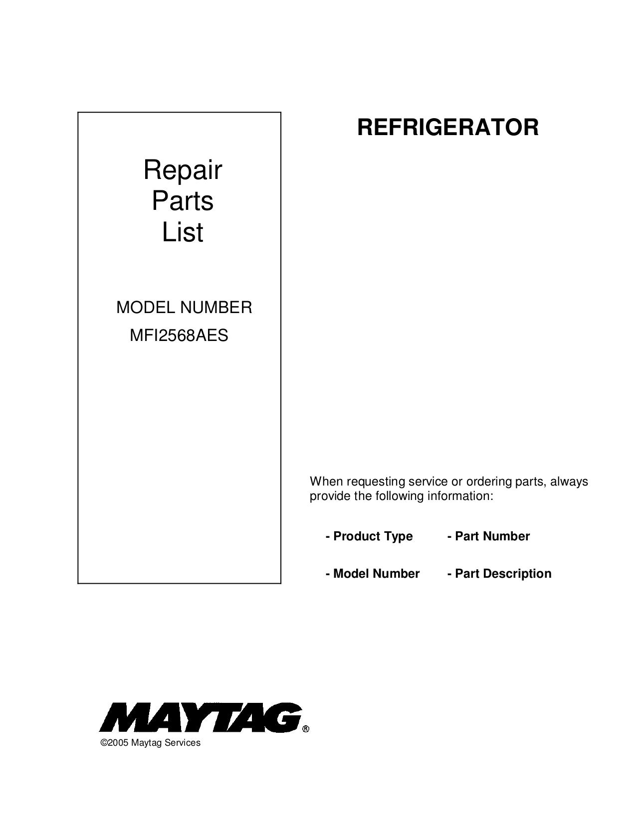 download free pdf for maytag ice2o mfi2568aes refrigerator manual rh umlib com MFI2568AES Recall Maytag MFI2568AES Control Board