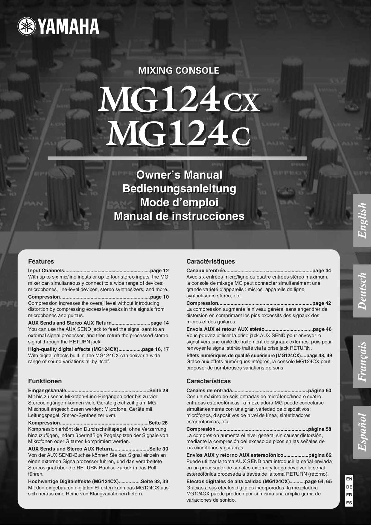 Download free pdf for toa cx 124 mixing consoles other manual