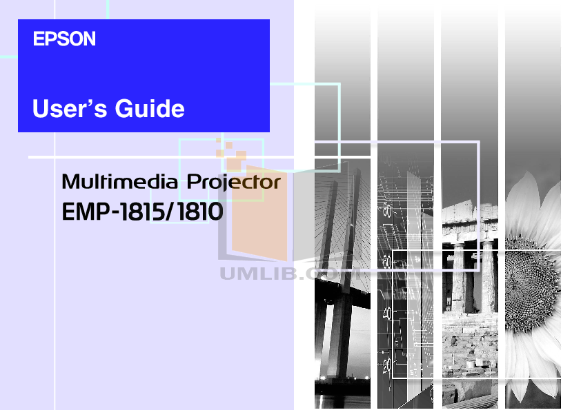 pdf for Epson Projector EMP-1815 manual