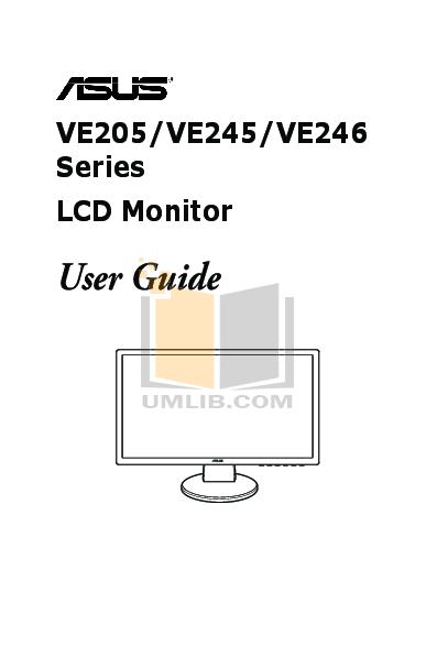 pdf for Asus Monitor VE246H manual