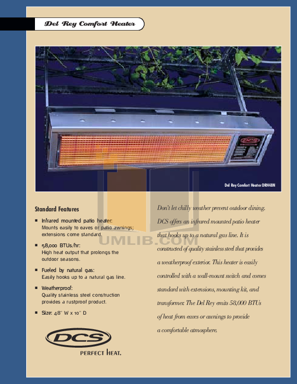 Pdf For DCS Heater DRH 48N Manual