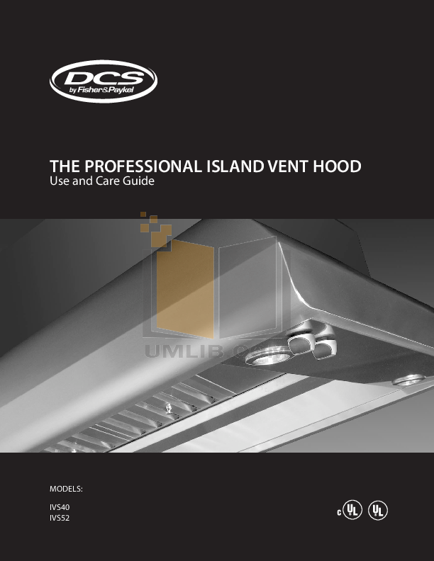 pdf for DCS Other IVS40 Hood manual