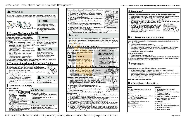 pdf for Frigidaire Refrigerator FFSC2323LS manual