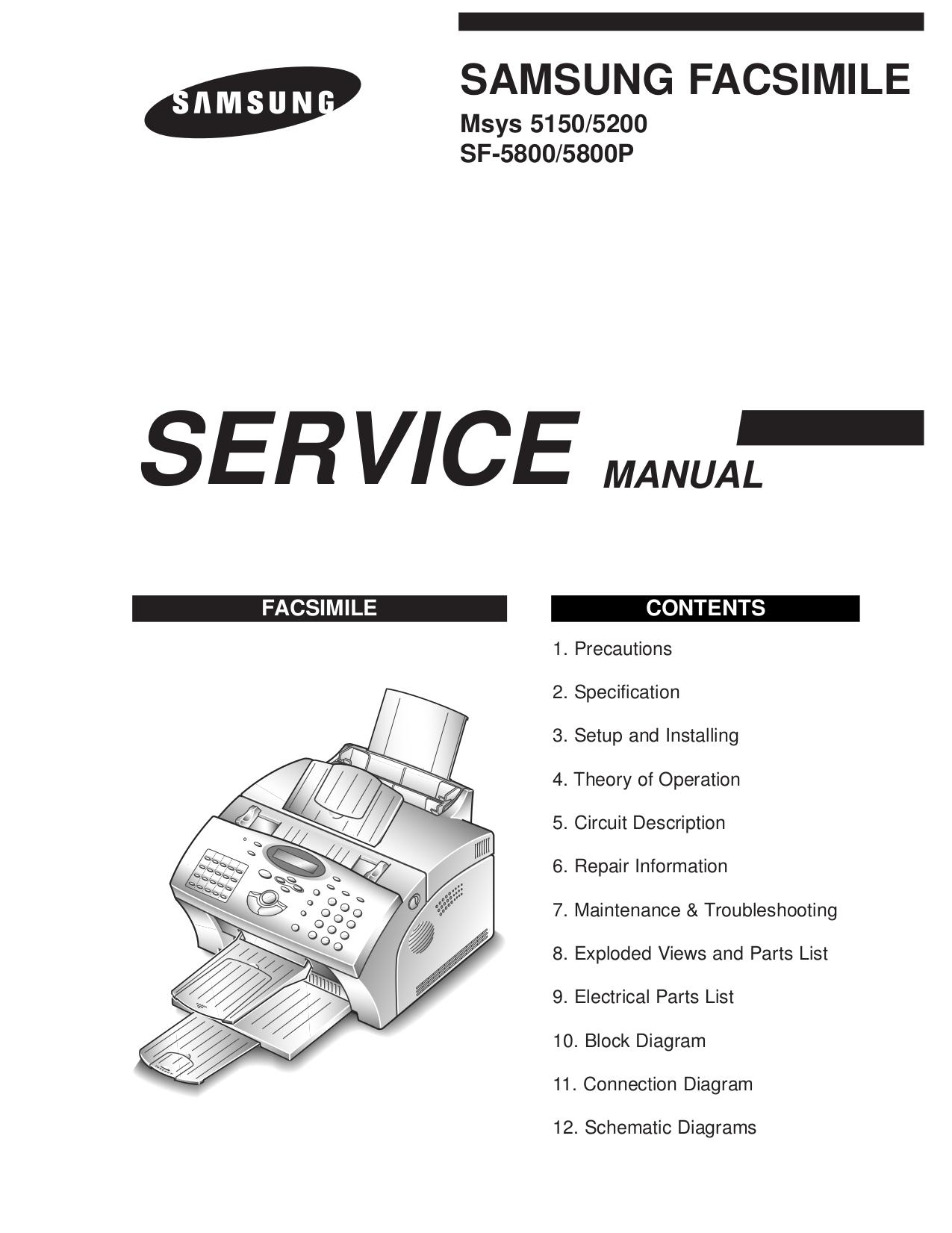 samsung sf 2800 инструкция