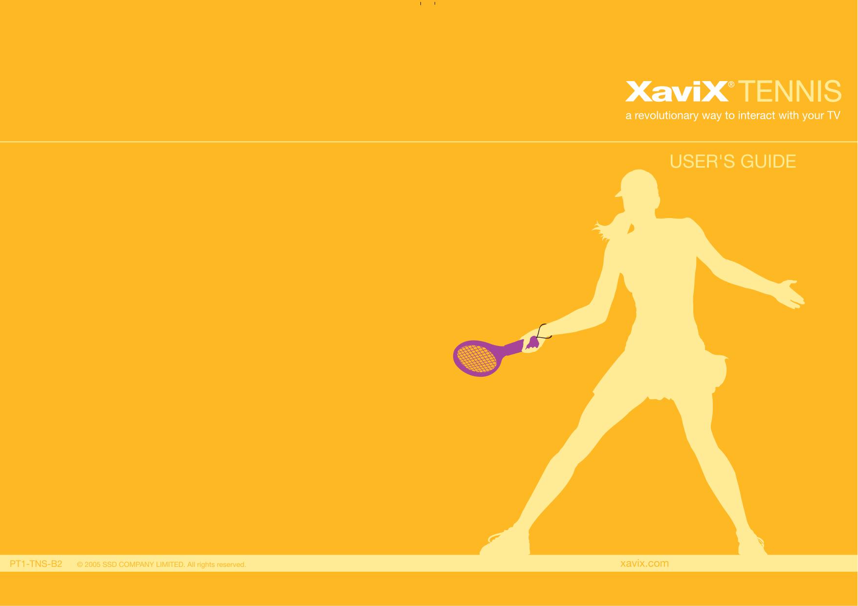 pdf for Xavix Other Xavix Tennis Video Game manual