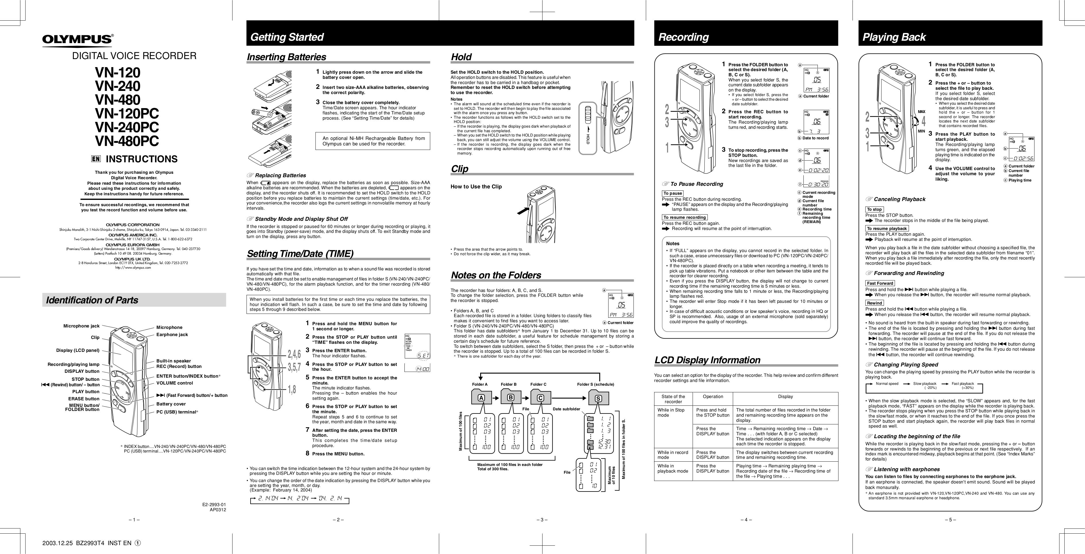 olympus voice recorder instructions