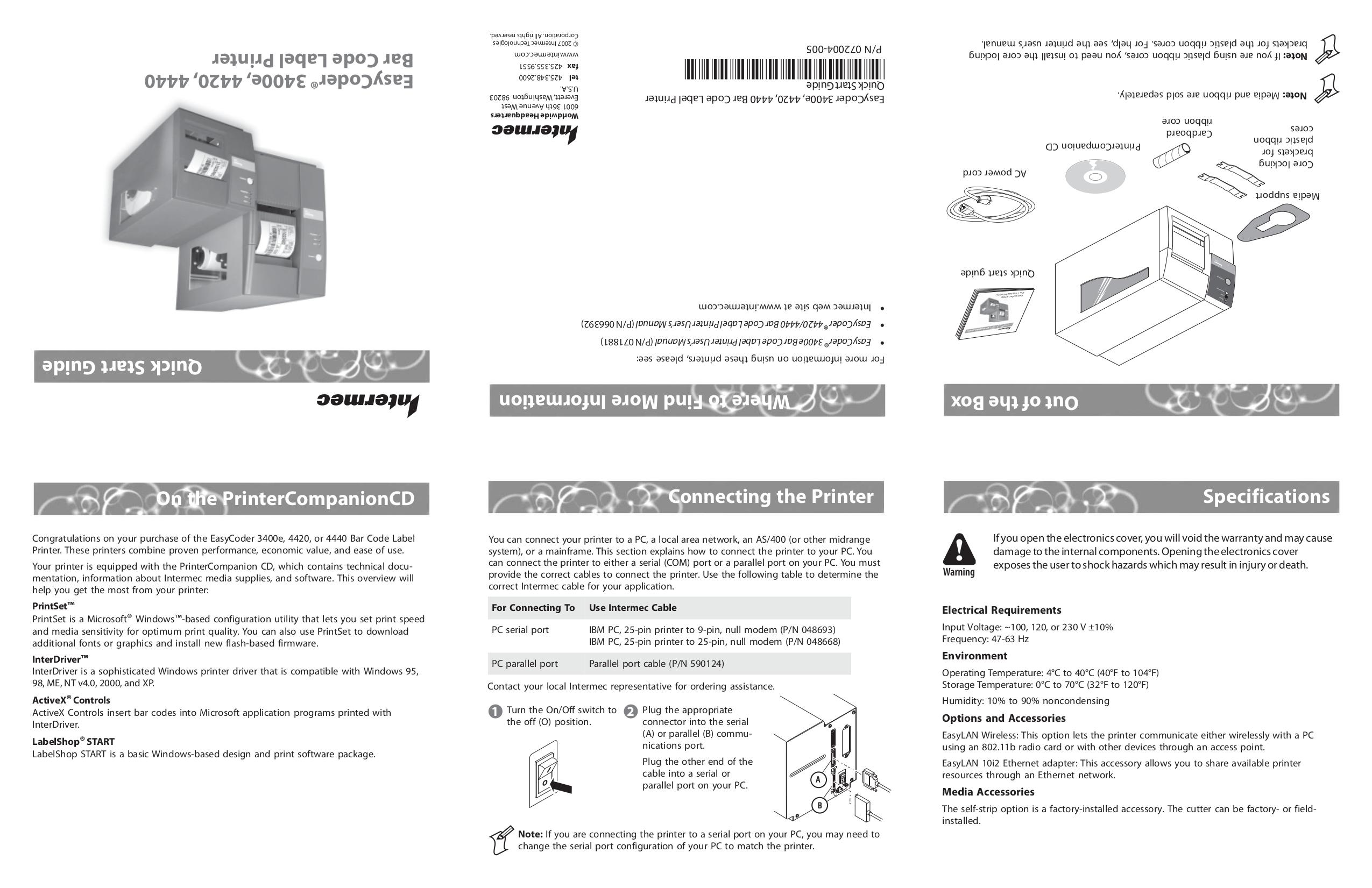 Intermec easycoder 4420 user manual pdf download.
