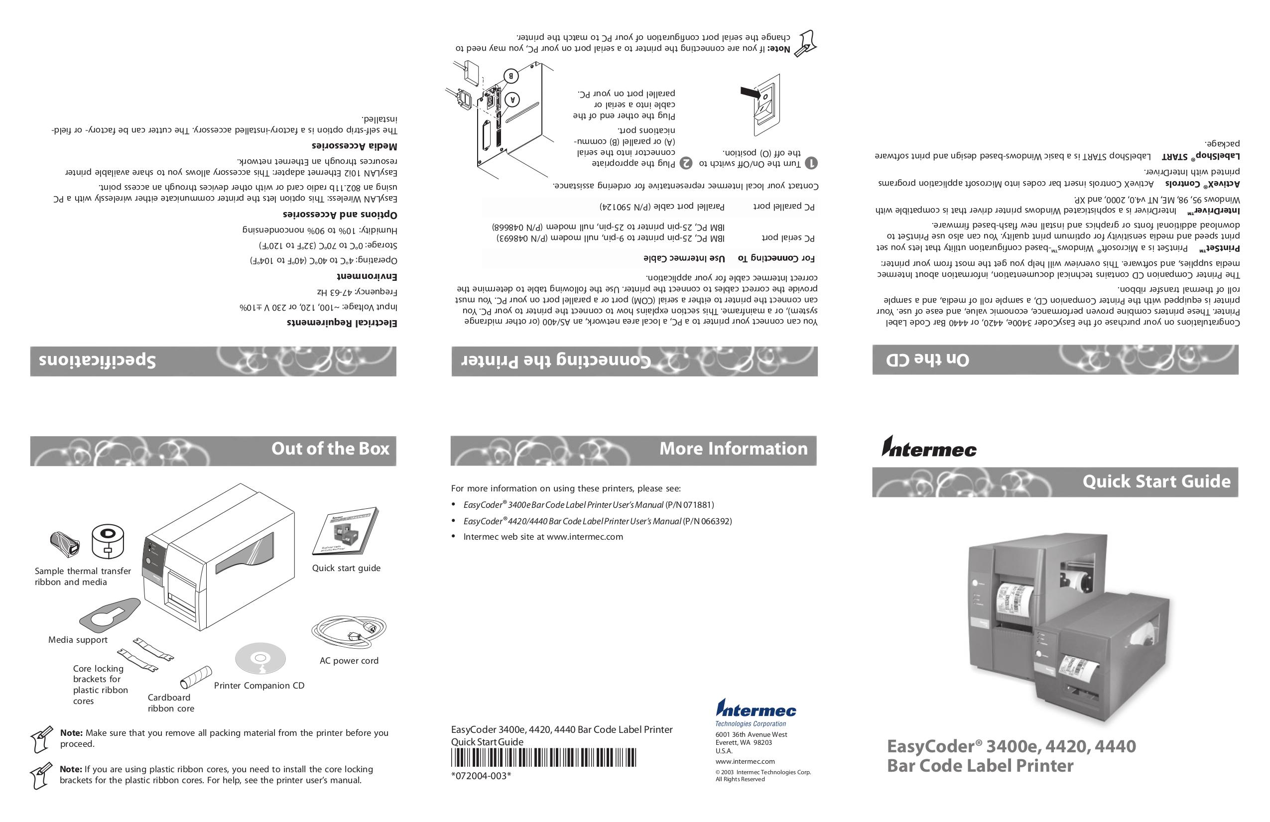 Download free pdf for intermec easycoder 4440 printer manual.