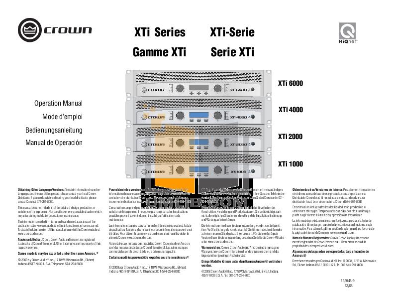 crown xti 1000 pdf