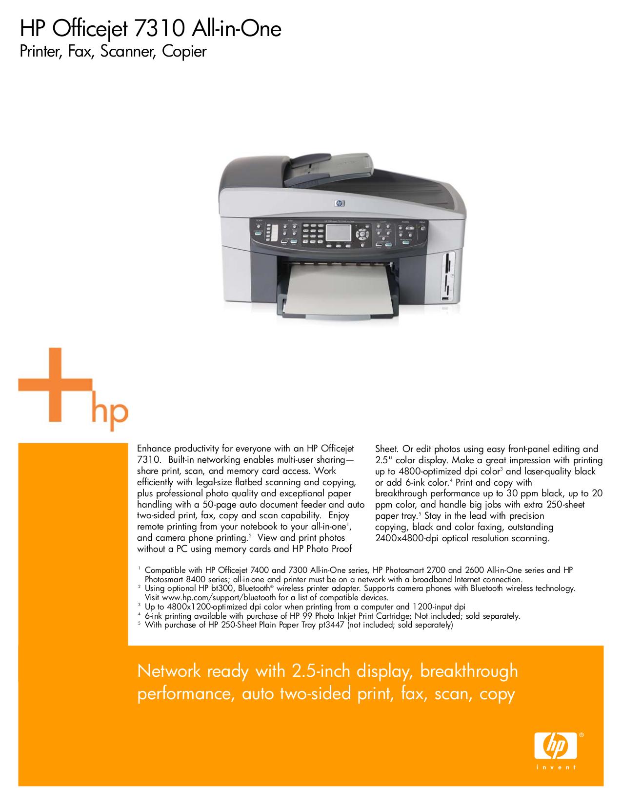 pdf for HP Printer Photosmart 7400 manual