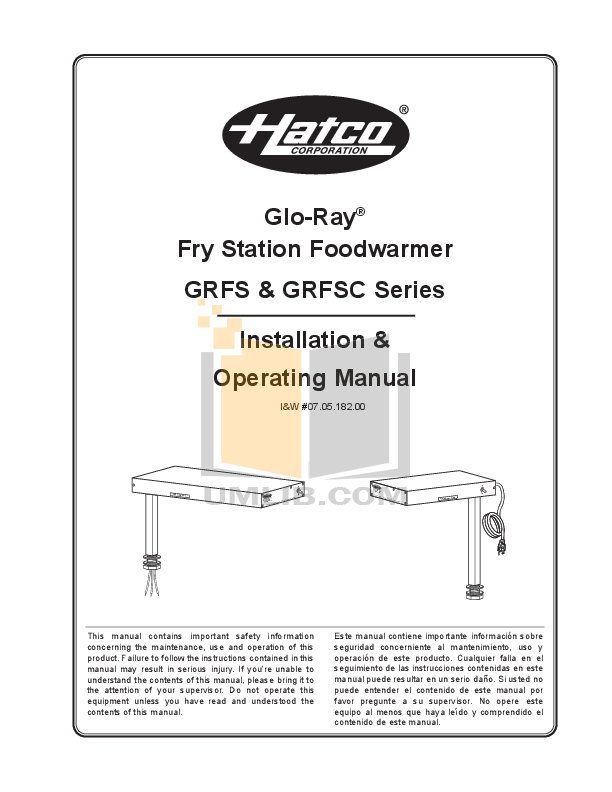 pdf for Hatco Other 3CS-6B manual