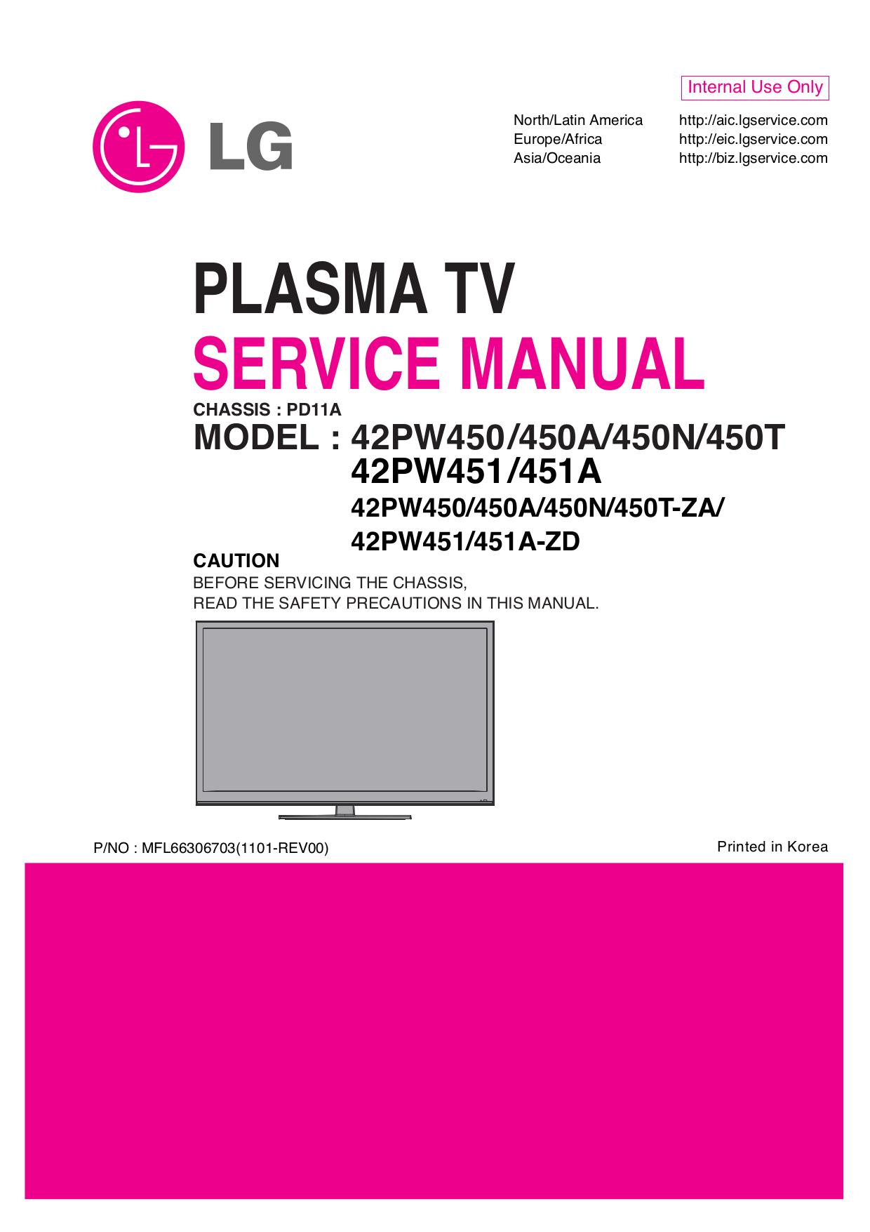 pdf for LG TV 42PT350 manual