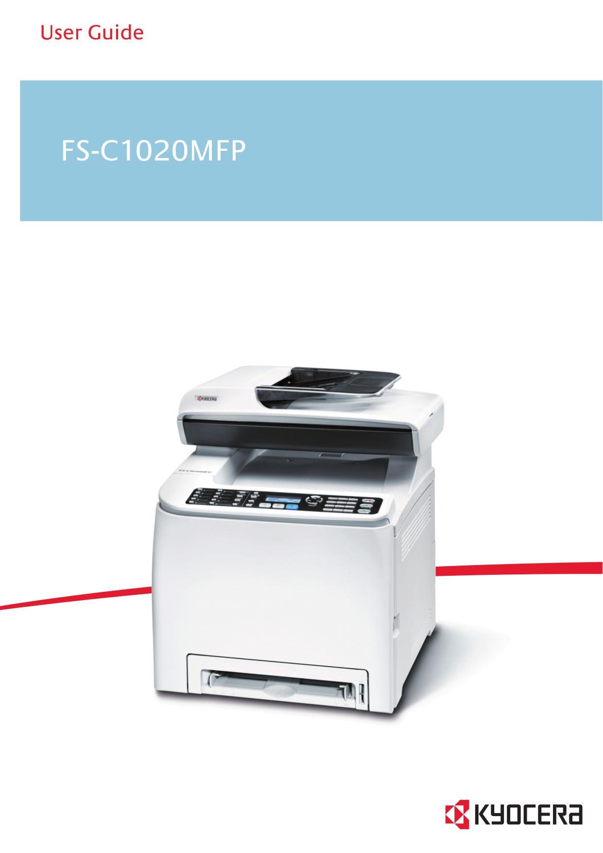pdf for Kyocera Printer FS-1050 manual