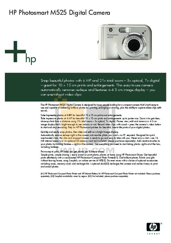download free pdf for hp photosmart m525 digital camera manual rh umlib com  hp photosmart m525 camera manual
