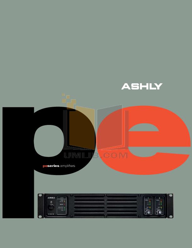 pdf for Ashly Amp PE-3800 manual