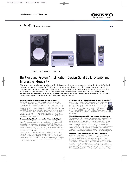 download free pdf for onkyo d 325 speaker system manual rh umlib com Discontinued Onkyo Receivers Onkyo or Denon