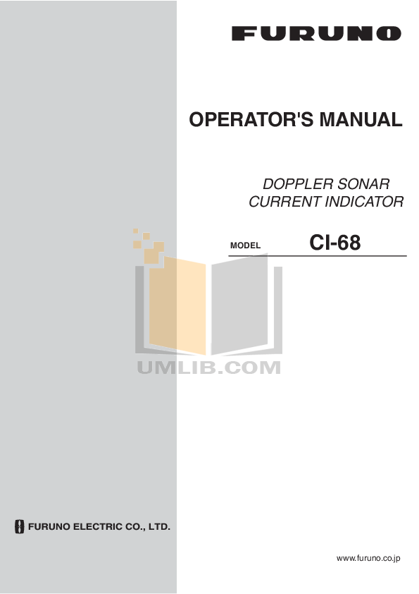 pdf for Furuno Other CI-68 Sonar manual