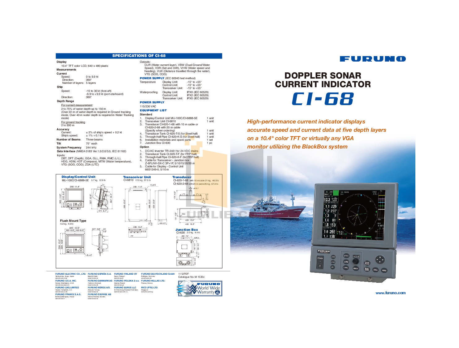 Furuno Other CI-68 Sonar pdf page preview
