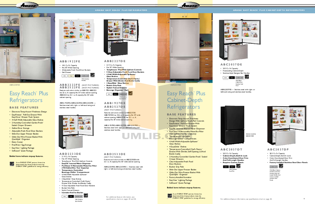 Amana Freezer AQC1526BEW pdf page preview