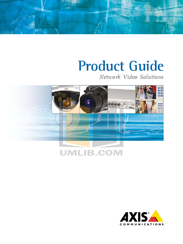 pdf for Axis Security Camera 225FD manual