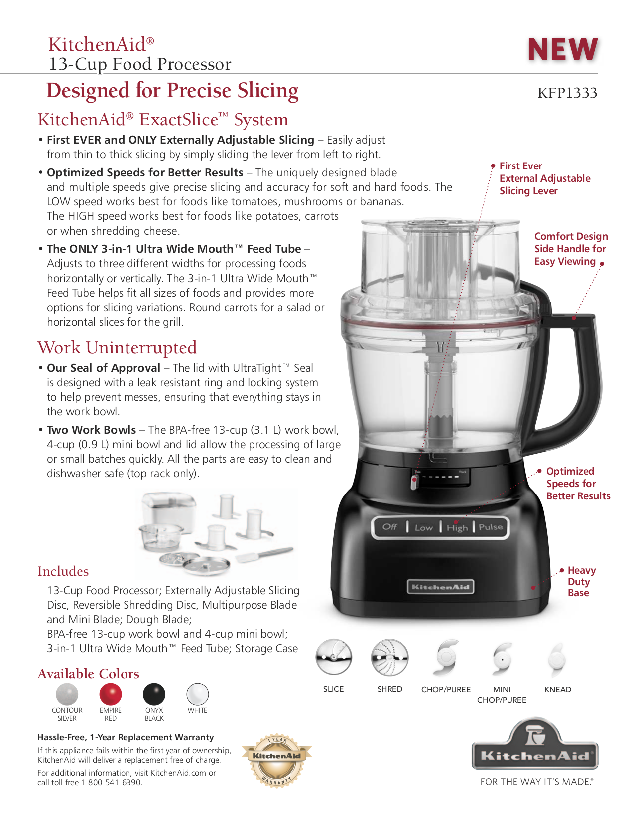 Perfect Pdf For KitchenAid Food Processor KFP1333 Manual