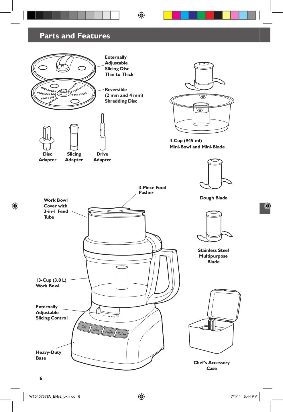 Kitchenaid Food Processor Kfp1333 Pdf Page Preview