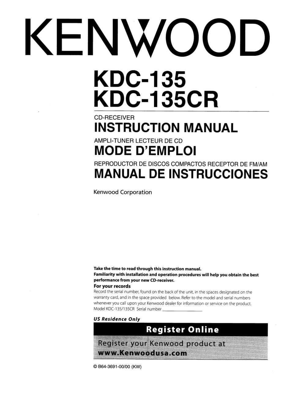 Kenwood Kdc 158 Wiring Free Diagram For You 138 Model 4 Axis Dm542a Db25 Rj12 Radioexcelon