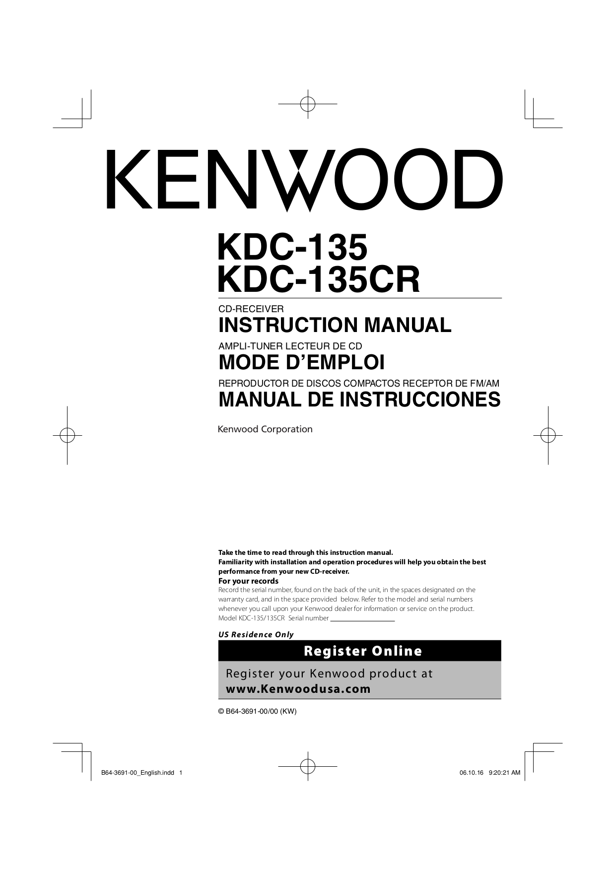 Kenwood Kac 8105d Wiring Diagram 32 Images Car Stereo Diagrams Radio B64 3691 00 00pdf 0 Download Free Pdf For Kdc 135 Receiver Manual