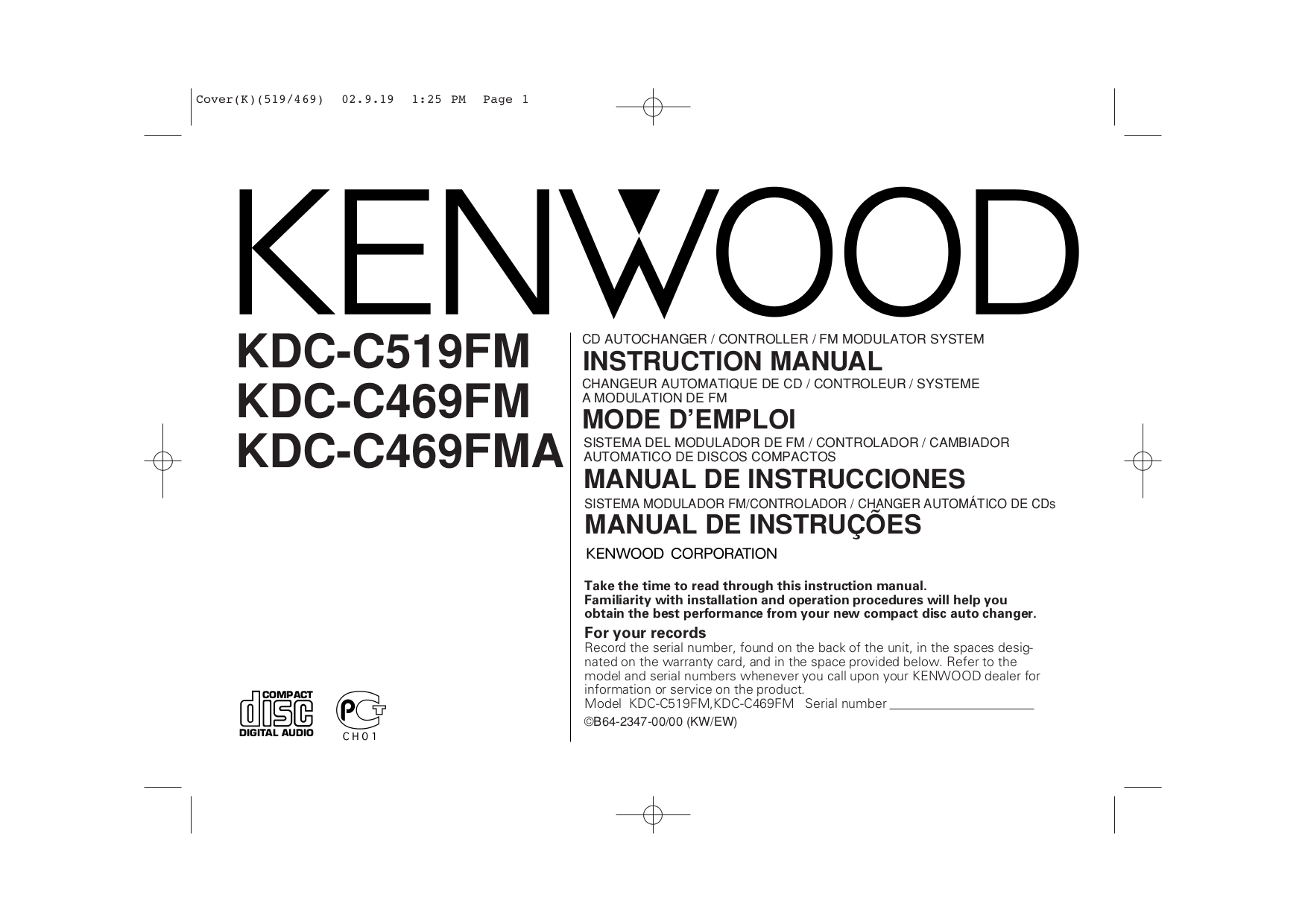 KDC C469FM.pdf 0 download free pdf for kenwood kdc 135 car receiver manual kenwood kdc-mp225 wiring diagram at bayanpartner.co