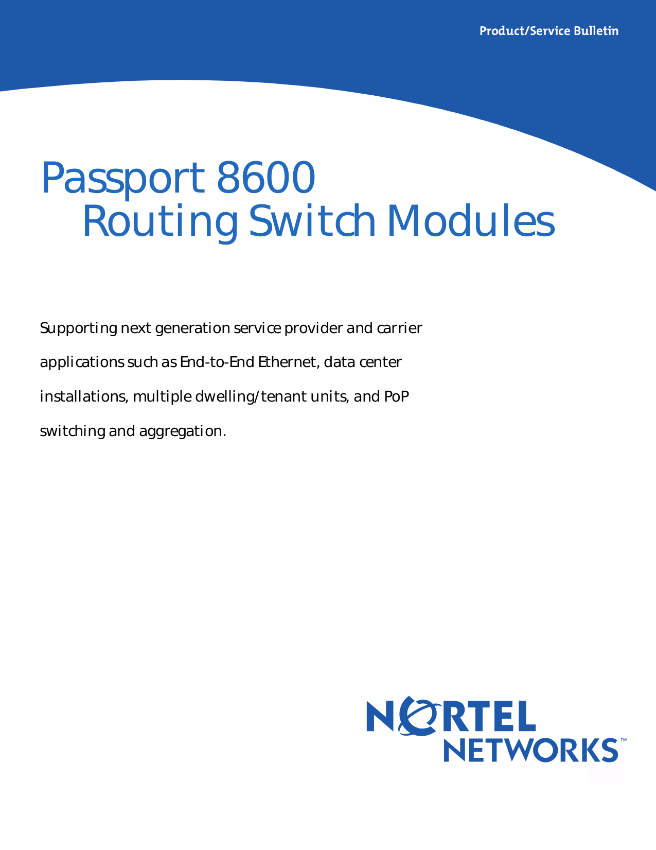 pdf for Nortel Switch Passport 8648 manual