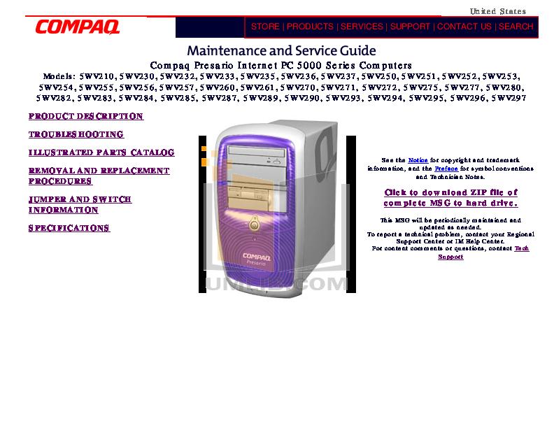 pdf for HP Laptop Compaq Presario,Presario X1204 manual