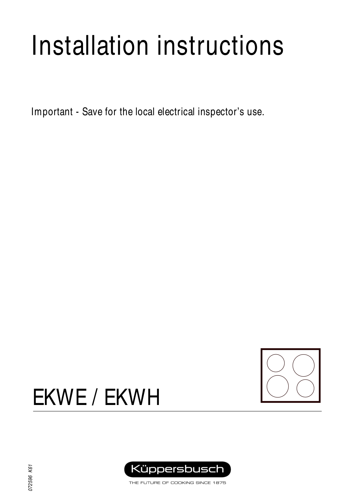 pdf for Kuppersbusch Range EKWH320.14 manual