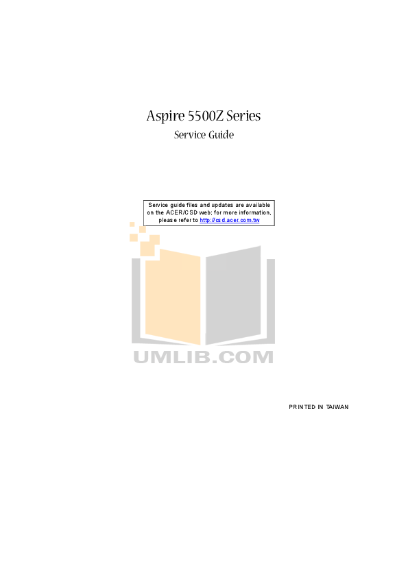 pdf for Acer Desktop Aspire 8025 XP manual