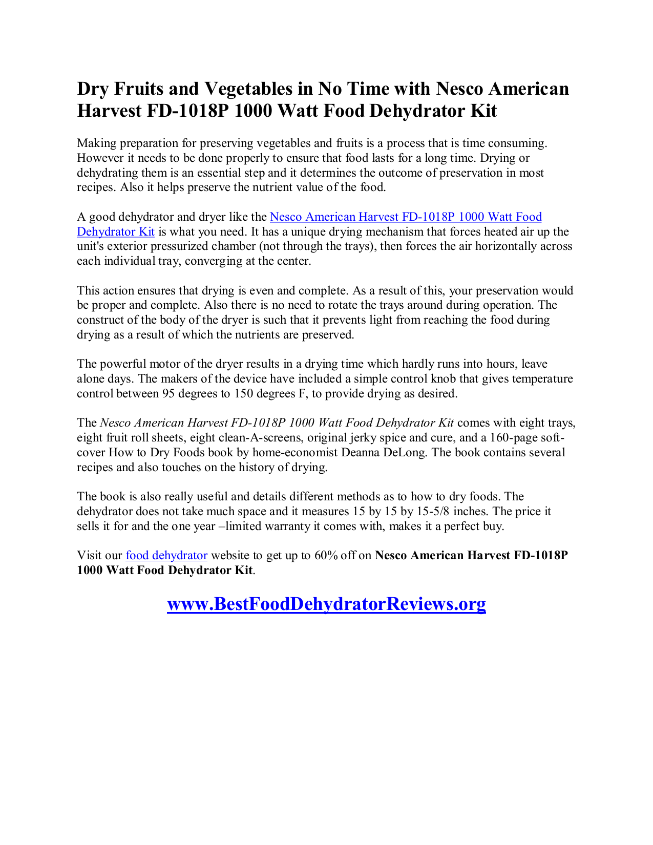 Pdf manual for nesco other fd 1000 food dehydrator nesco other fd 1000 food dehydrator pdf page preview forumfinder Gallery