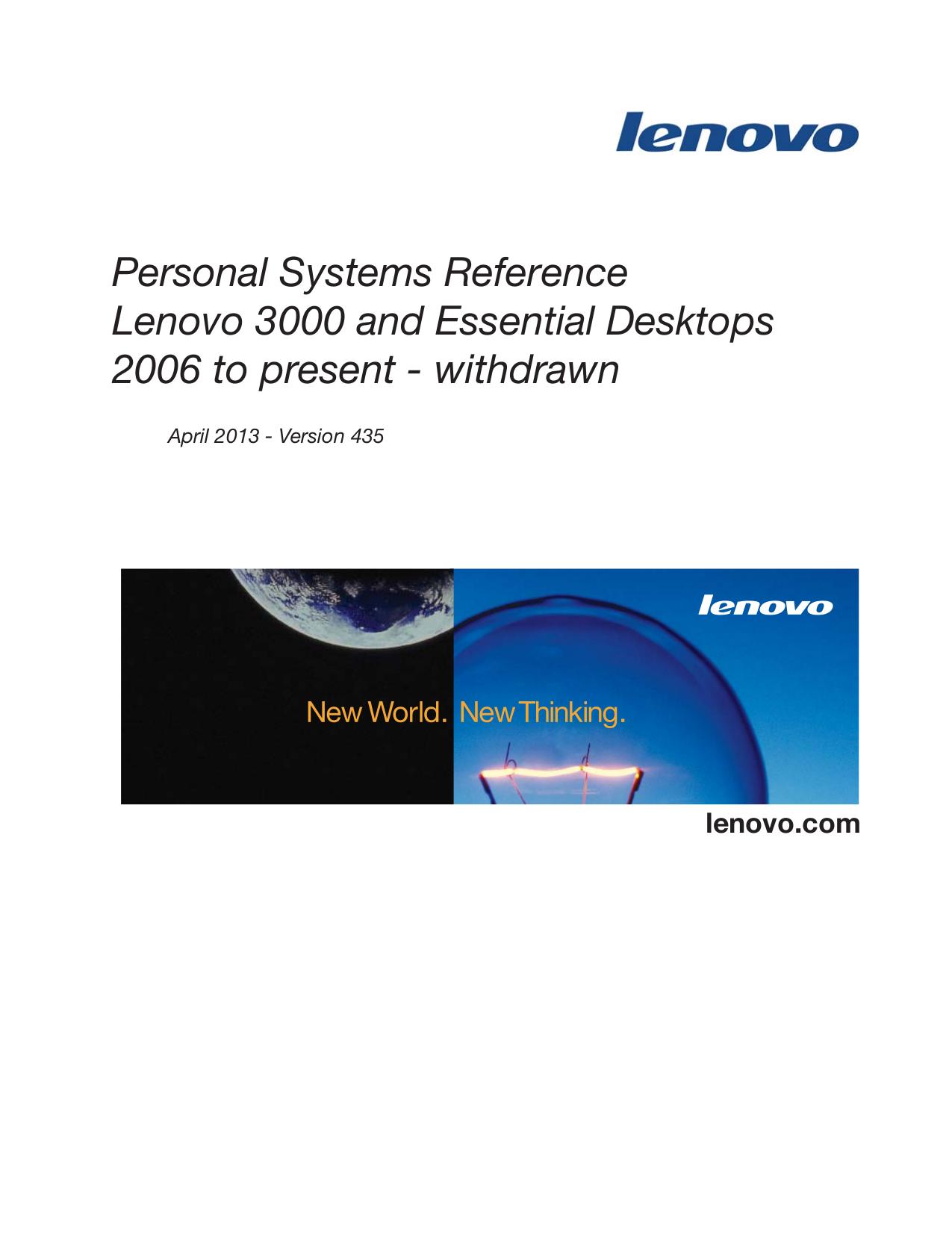 pdf for Lenovo Desktop 3000 J105 8258 manual