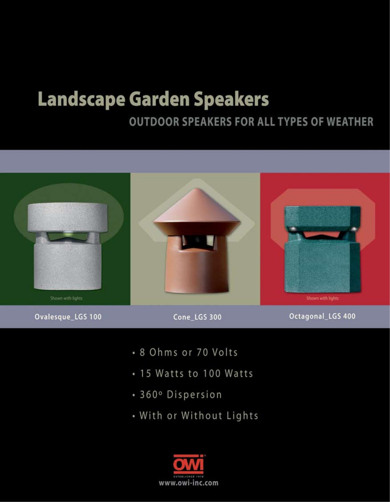pdf for Owi Speaker LGS120 manual