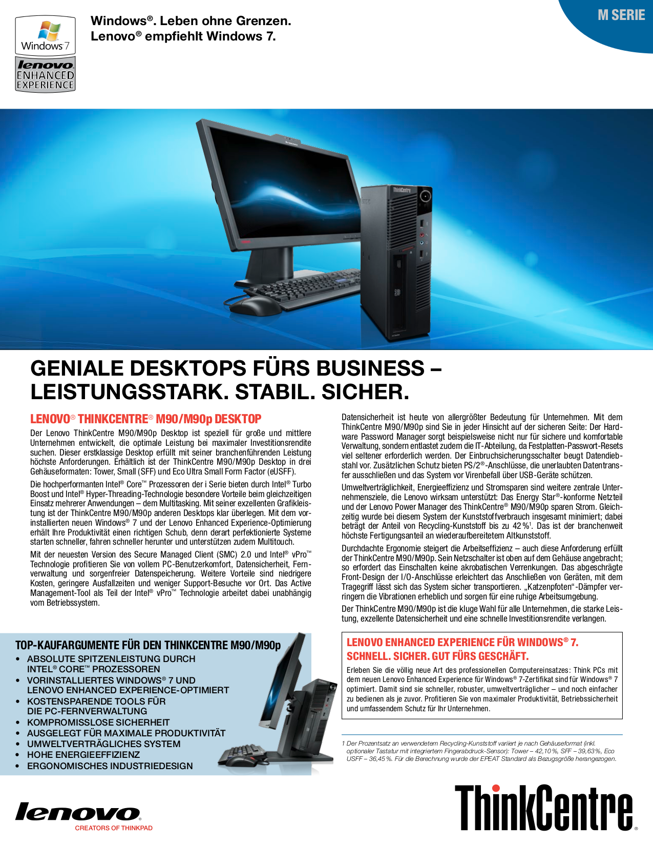 pdf for Lenovo Desktop ThinkCentre M90p 3269 manual