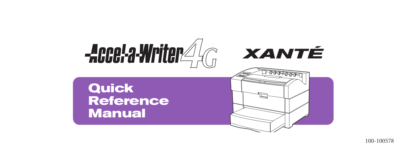 pdf for Xante Printer Accel-a-Writer Accel-a-Writer 3DN manual