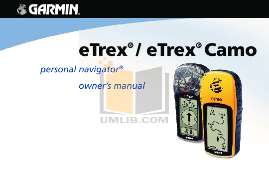 download free pdf for garmin etrex camo gps manual rh umlib com garmin etrex vista hcx manual pdf garmin etrex h manuel d'utilisation