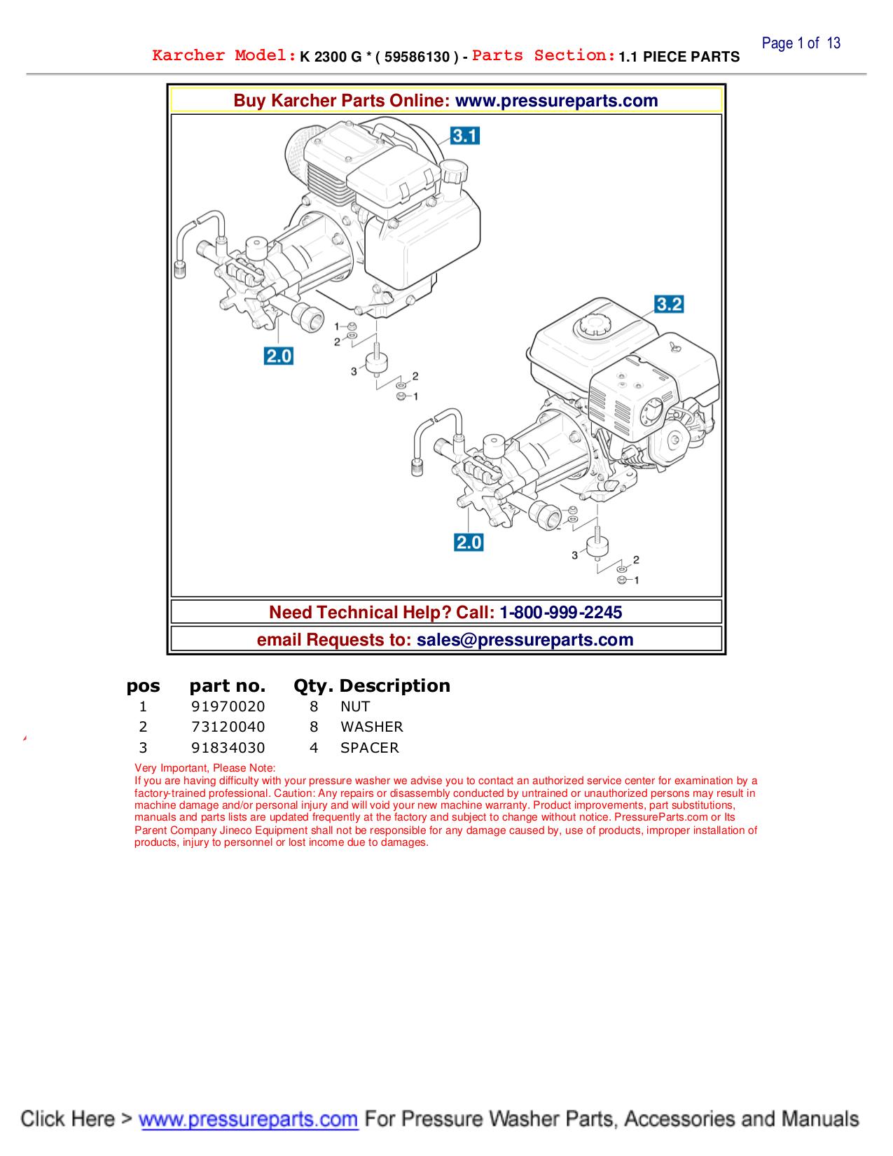 pdf for Karcher Other K 2300 G Pressure Washers manual