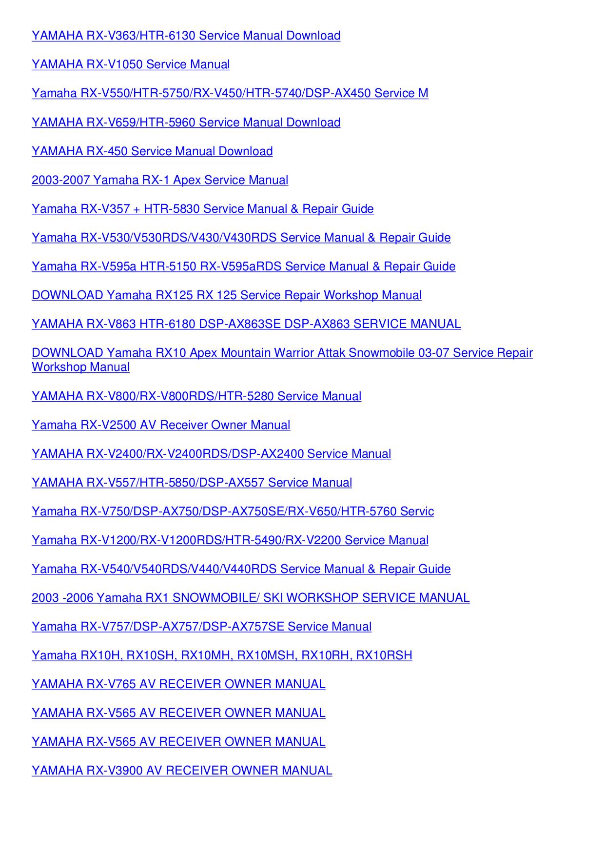 ... rx1 repair service 20 suche bedienungsanleitung anweisungen buch Array  - pdf manual for yamaha receiver rx v1070 rh umlib com