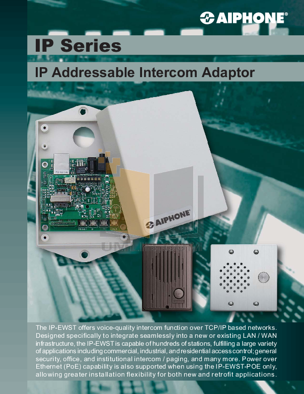 pdf for Aiphone Other AH-108 Intercoms-Accessory manual