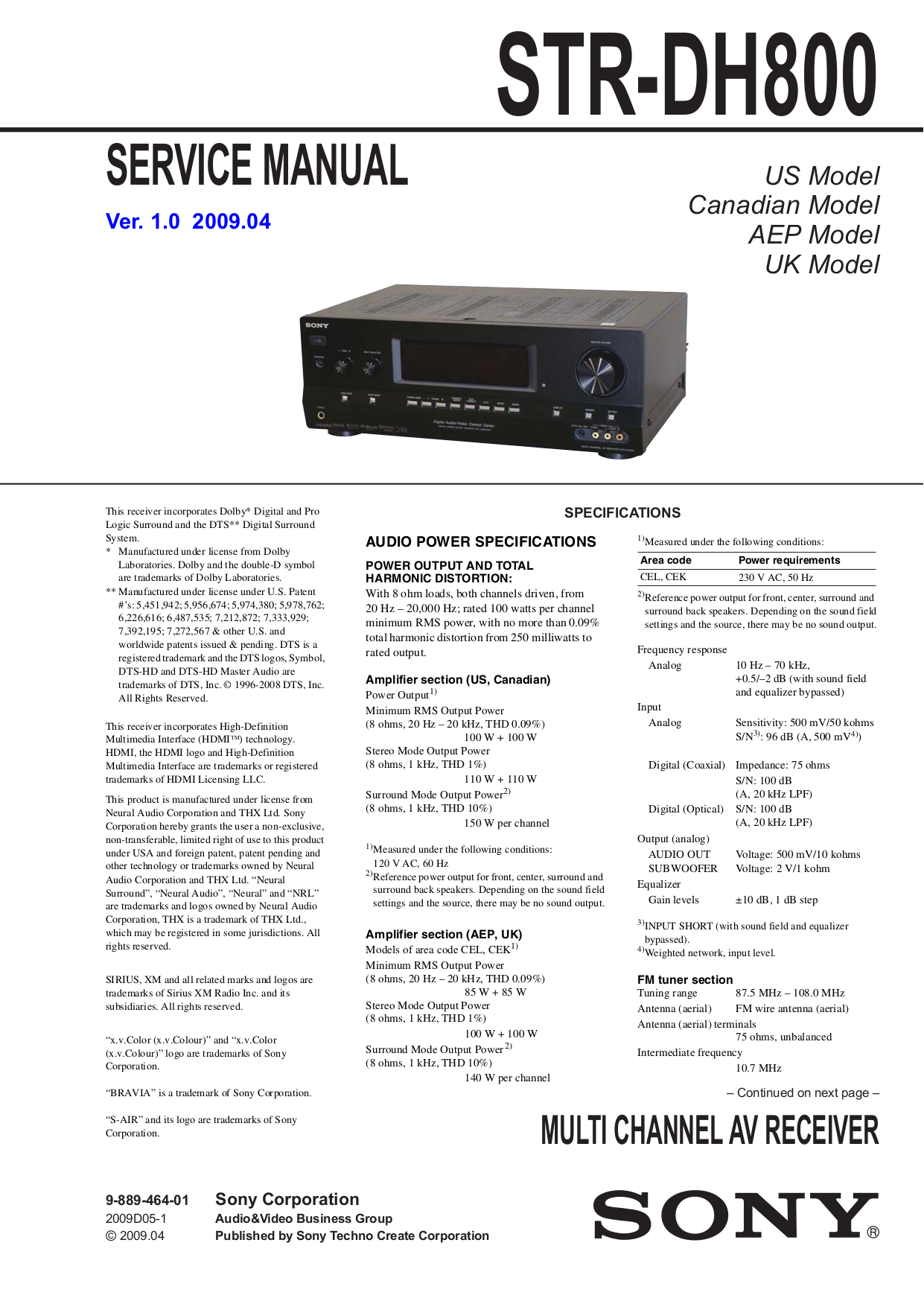 download free pdf for sony str dh800 receiver manual rh umlib com sony str dh800 manual pdf Sony Receiver STR -DH830